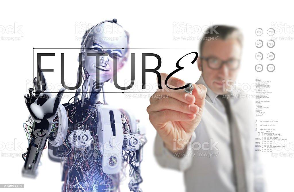 Creating The Future stock photo