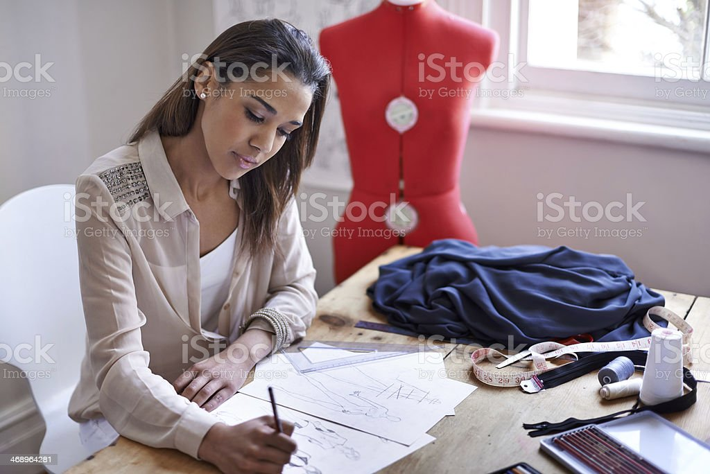 Creating the newest styles stock photo