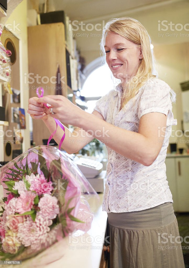 Creating the perfect bouquet stock photo