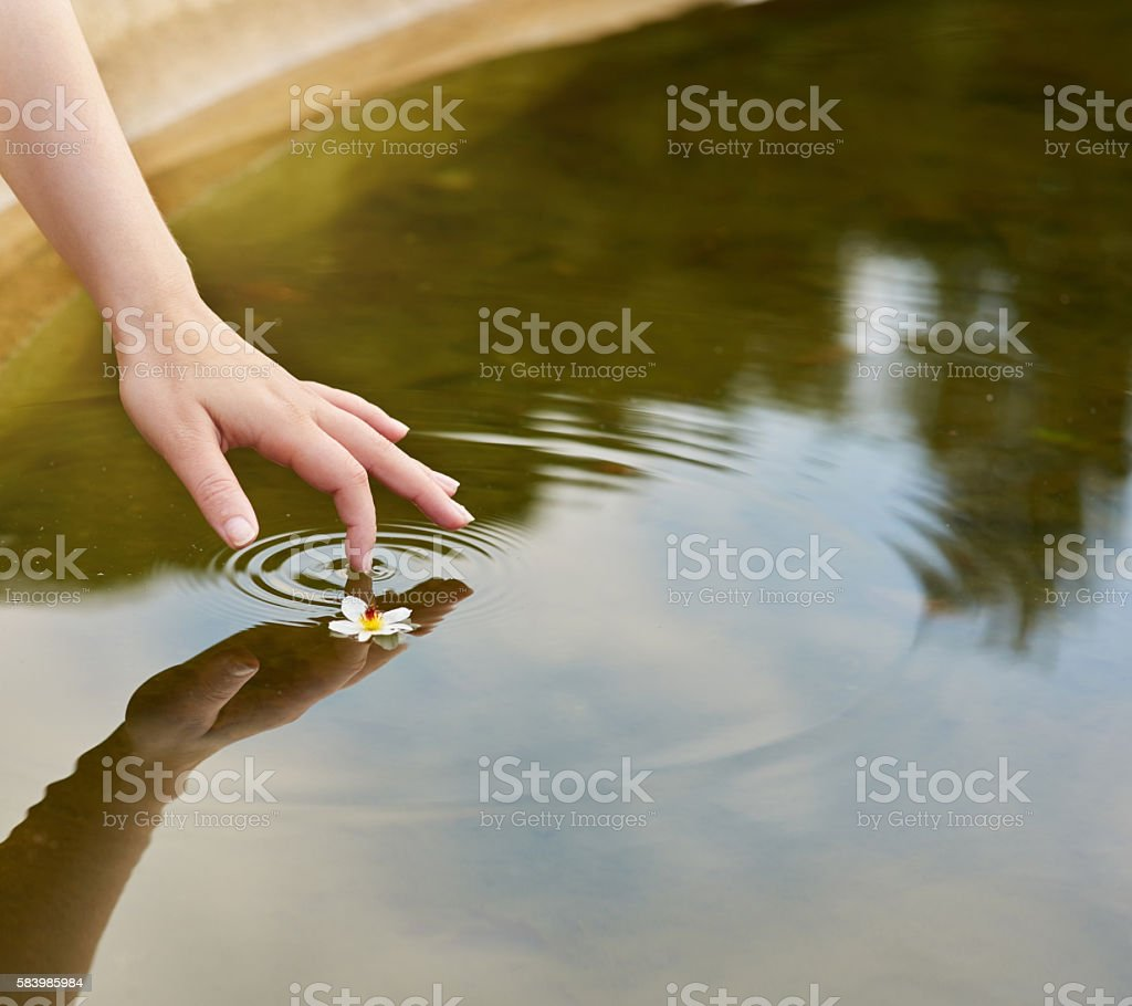 Creating wavelets stock photo