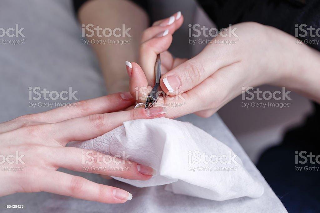 Creation manicure stock photo