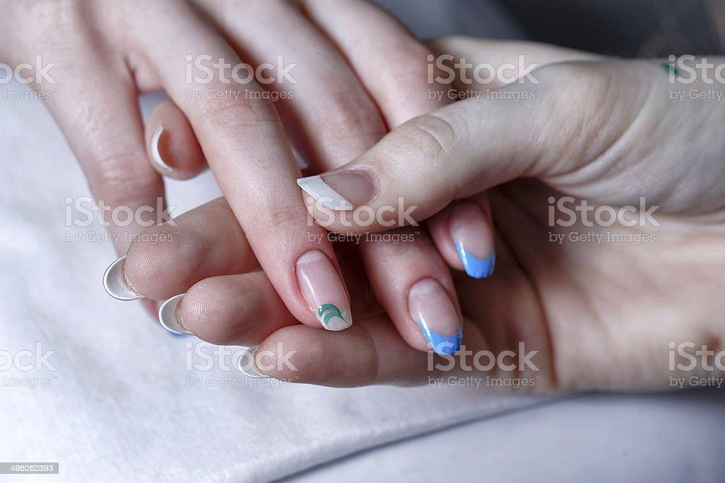 Creation manicure royalty-free stock photo