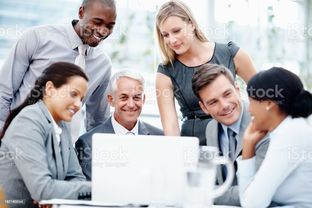Creation of team work royalty-free stock photo