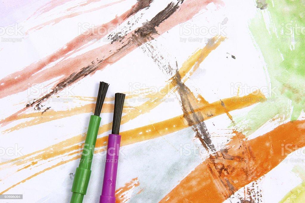 Creations in orange tones stock photo
