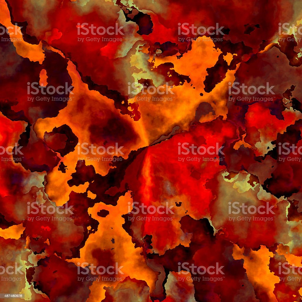 Creative abstract decorative design element. Melting lava. Ancient craft. Backdrop. vector art illustration