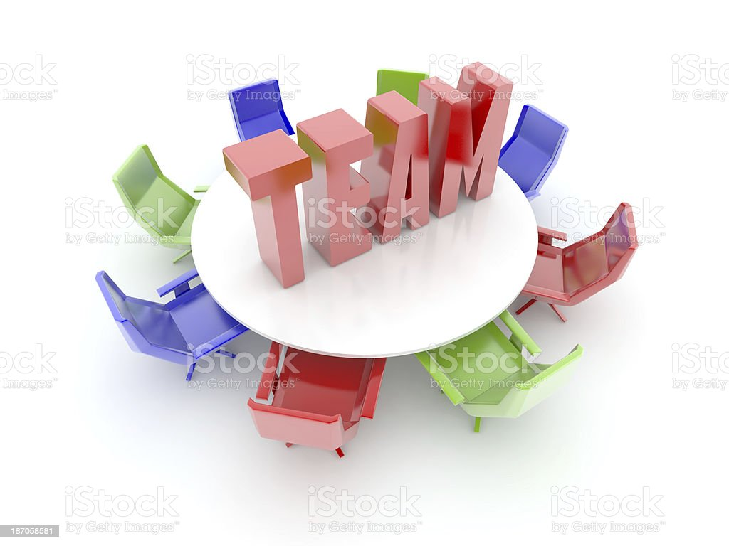 Creative and Colored Teamwork royalty-free stock photo