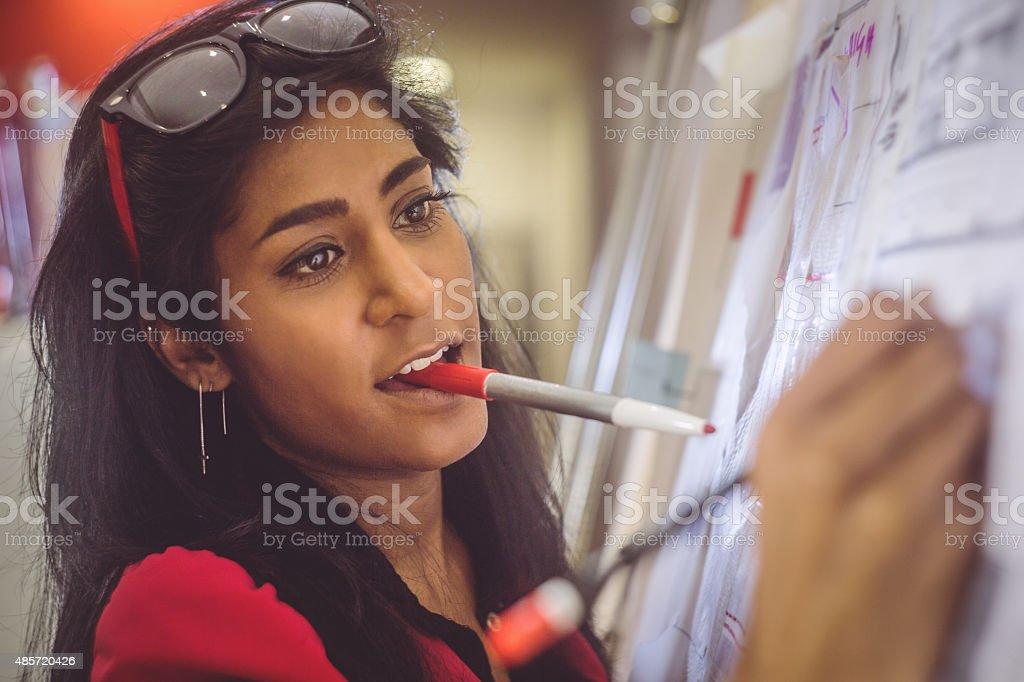 Creative architect women at work stock photo