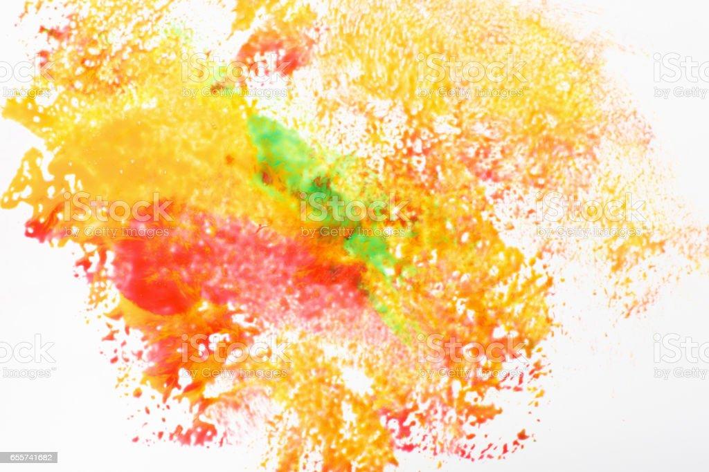 Creative art, abstractionism. Festival holi colors stock photo