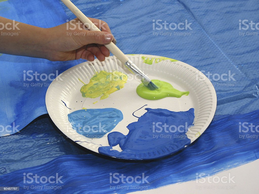 creative blue-green-yellow mixture royalty-free stock photo