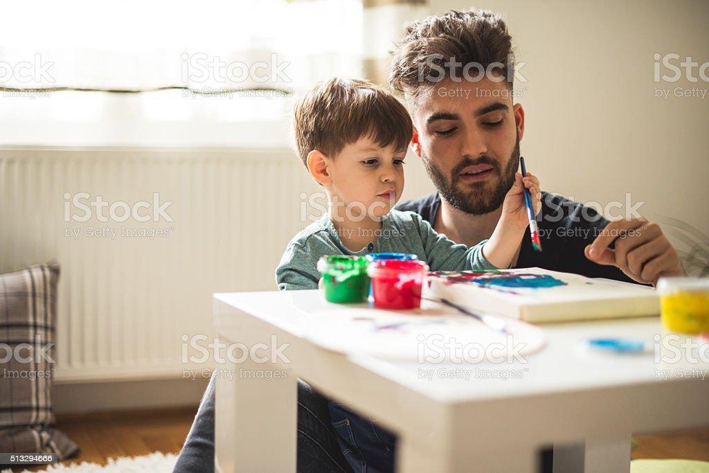 Creative boy stock photo