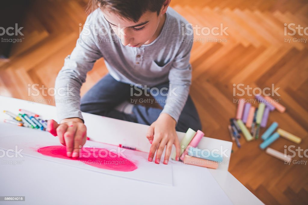 Creative boy stock photo