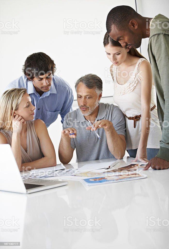 Creative brainstorming royalty-free stock photo