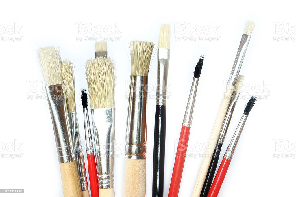 Creative - brush & color royalty-free stock photo
