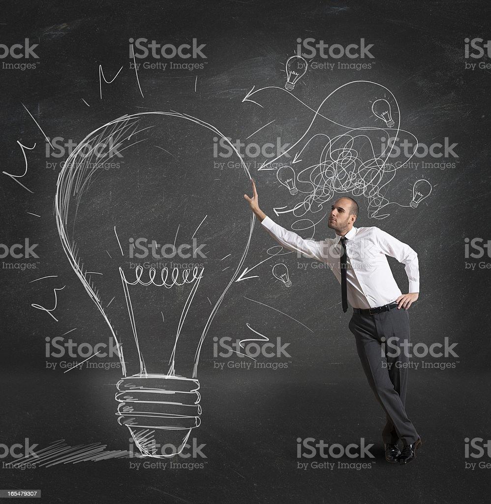 Creative business idea royalty-free stock photo