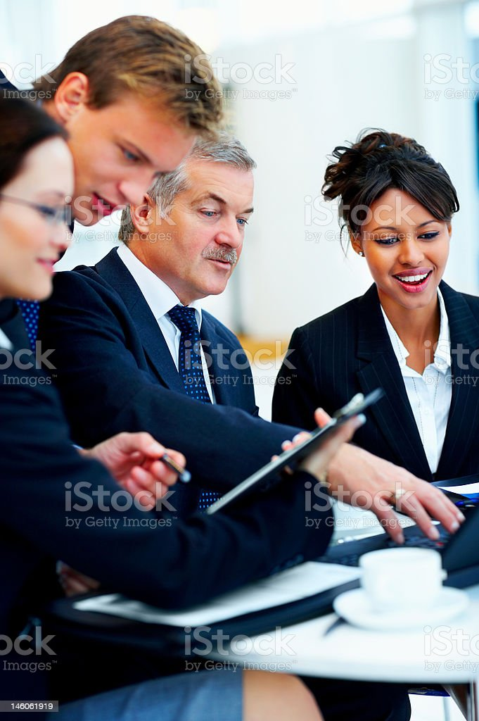 Creative business people discussing in a meeting royalty-free stock photo