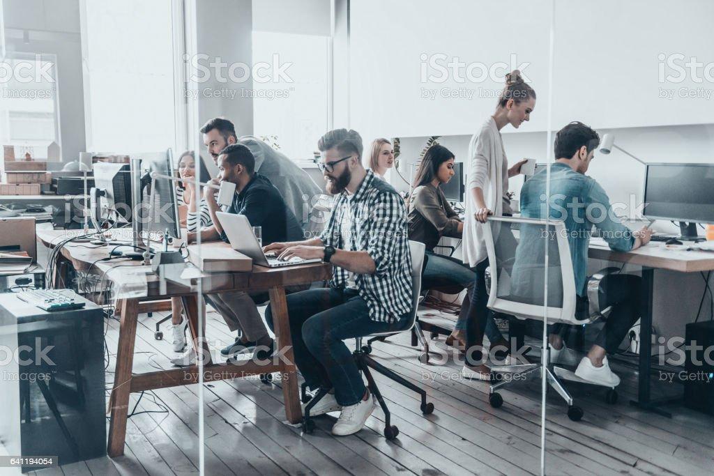 Creative business team. stock photo
