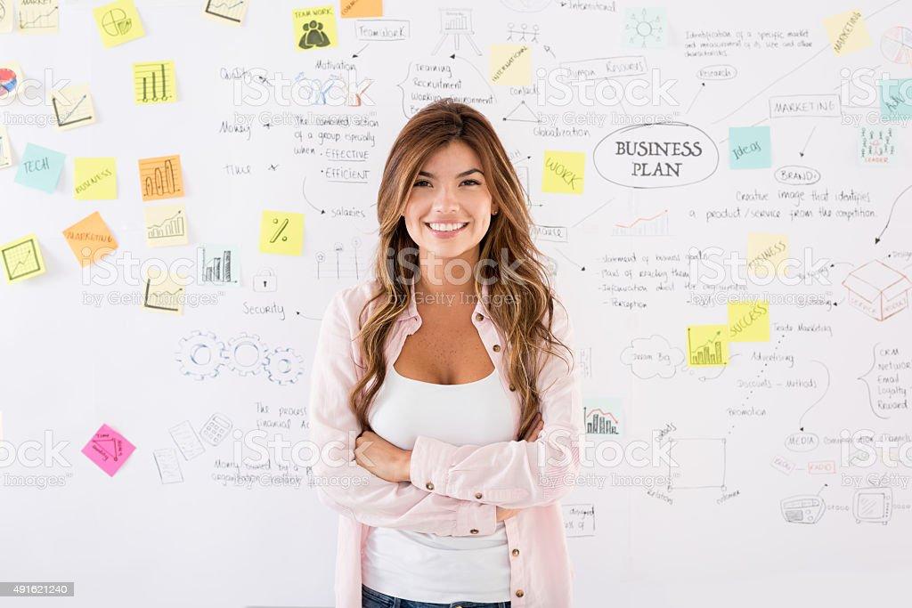 Creative business woman stock photo