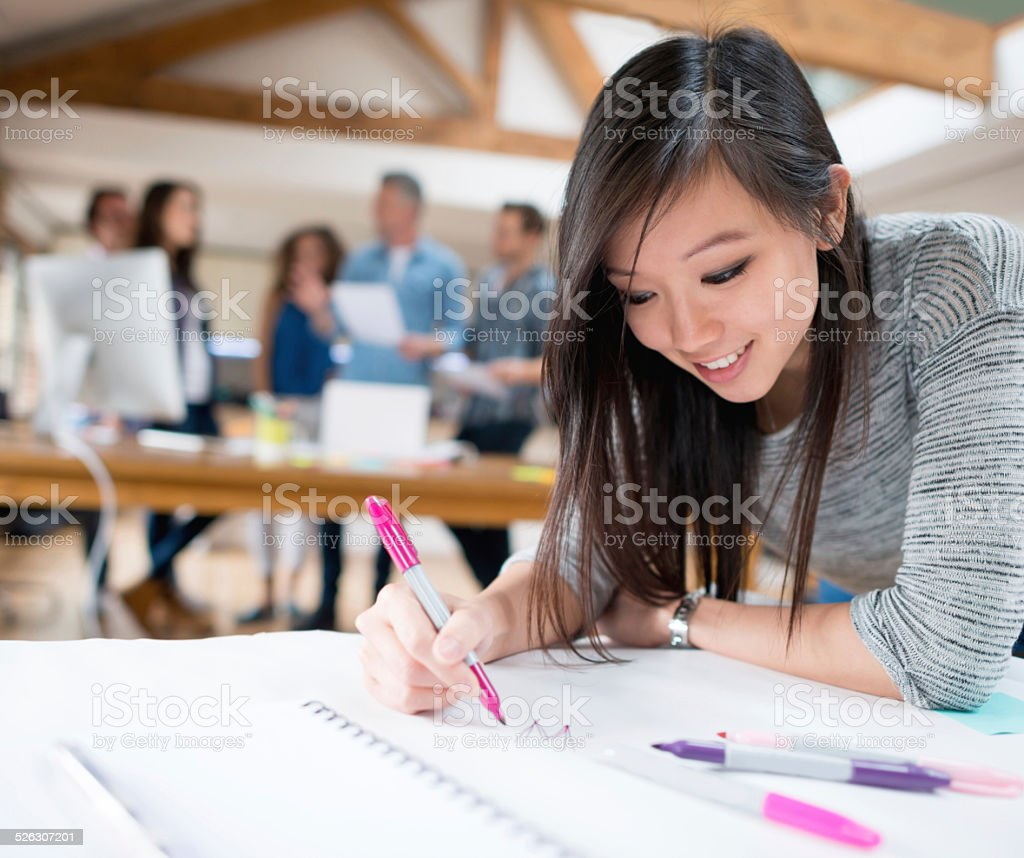 Creative business woman stock photo