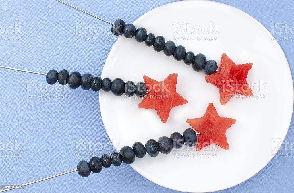 Creative children's food on a plate royalty-free stock photo