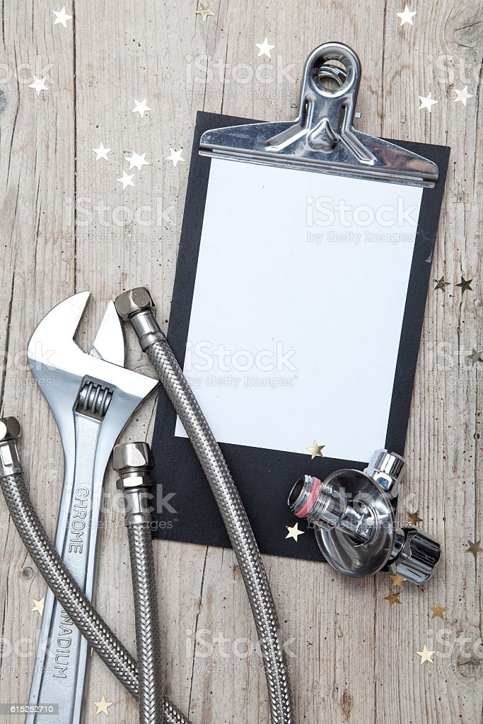 Creative Christmas Card for an installation business stock photo