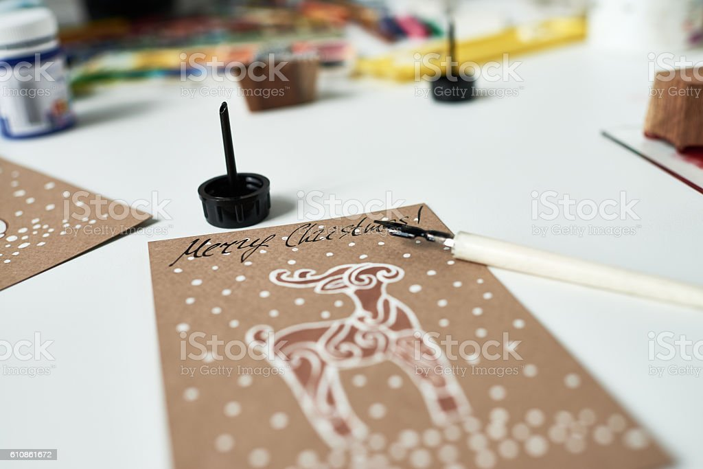 Creative Christmas card stock photo