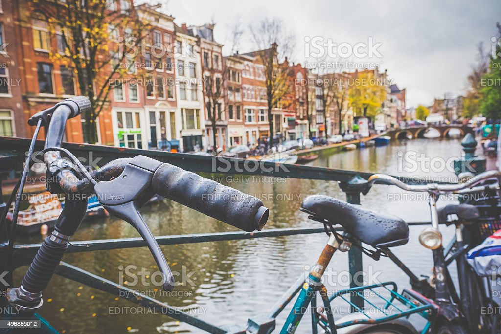 Creative Composition from the Canals of Amsterdam, Netherlands stock photo