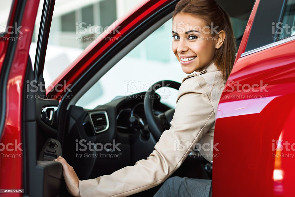 Creative concept for car rental stock photo
