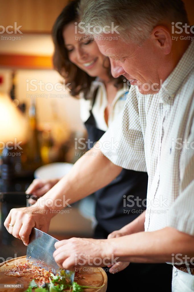 Creative cooking stock photo
