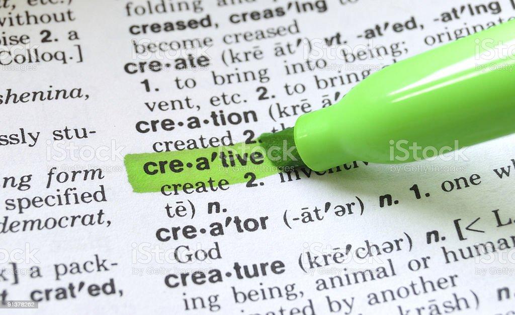 Creative Defined stock photo
