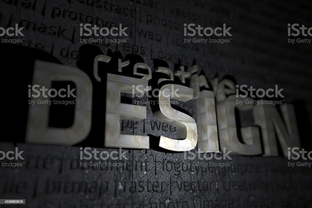 Creative Design 3D Theme stock photo