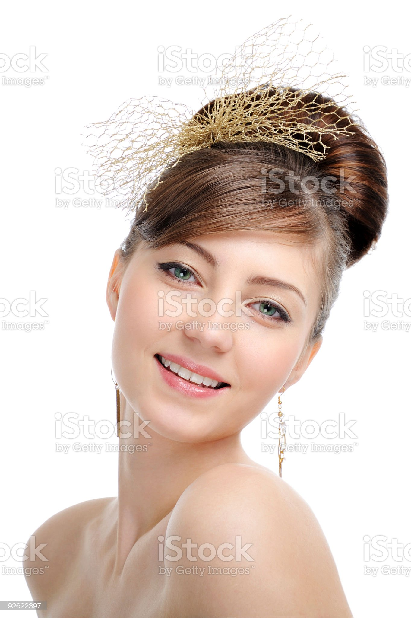 creative design hairstyle royalty-free stock photo