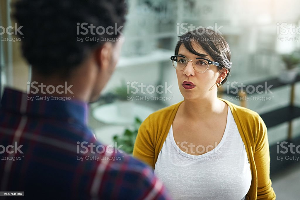 Creative differences can make tempers flare in any office stock photo