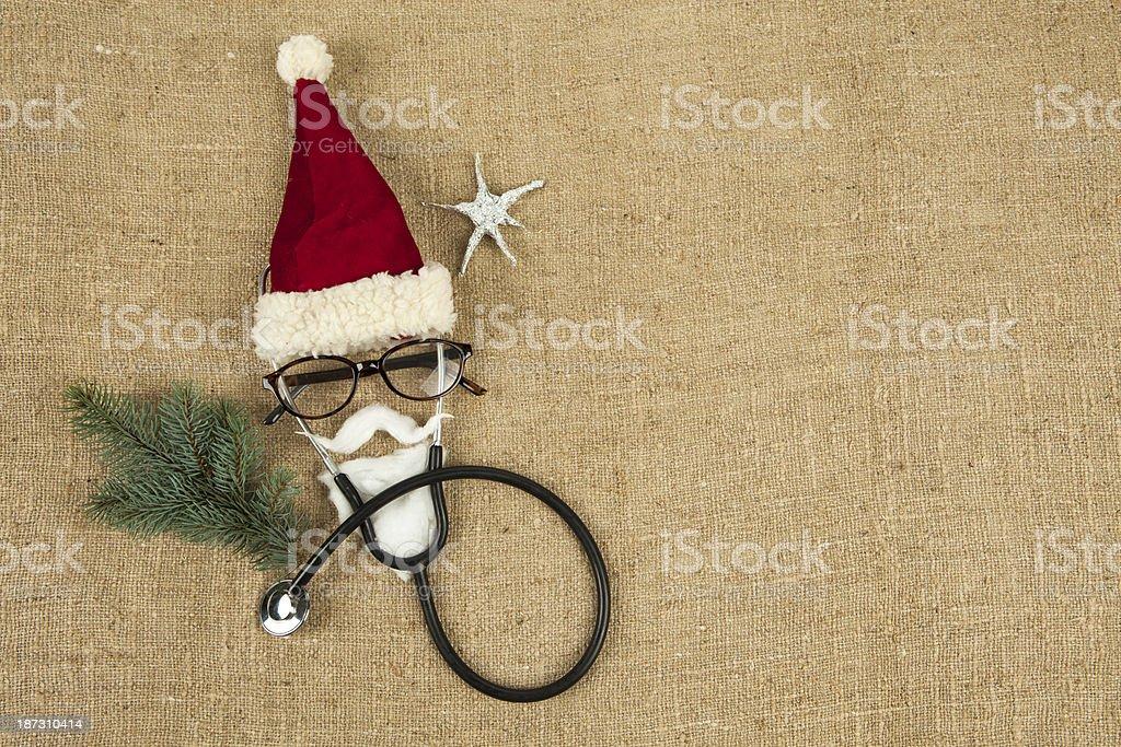 Creative face of Santa Claus royalty-free stock photo