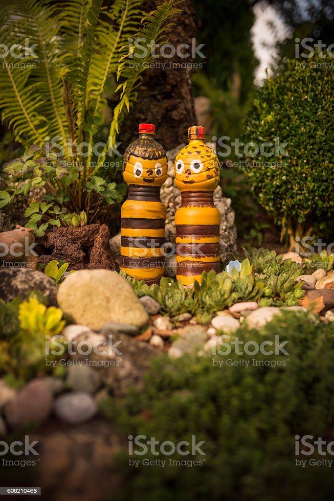 creative garden decoration stock photo