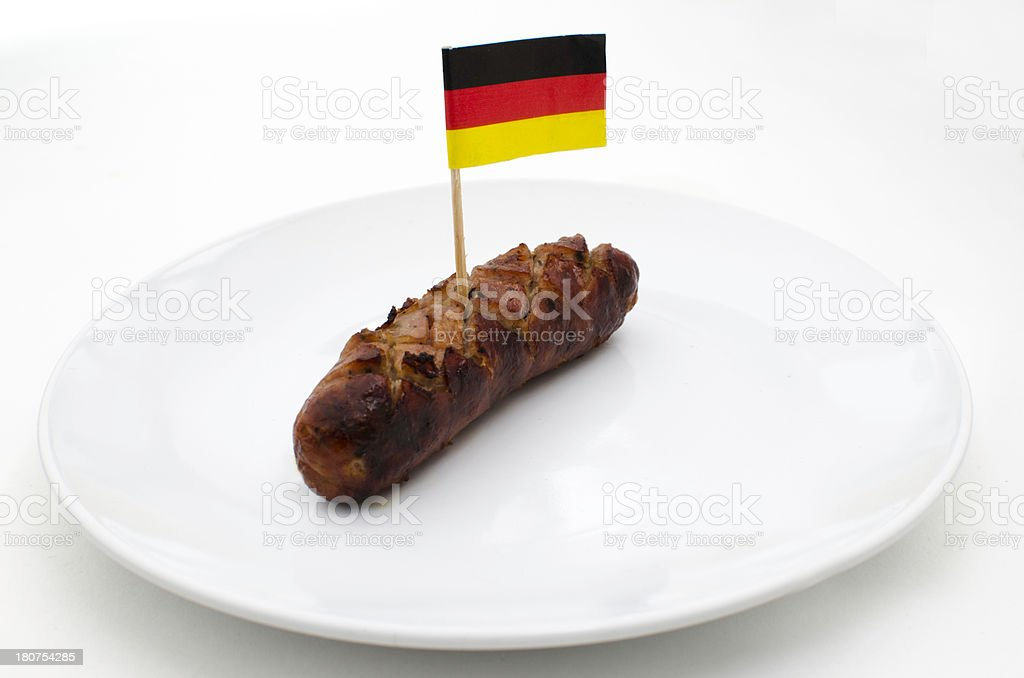 Creative German sausage stock photo