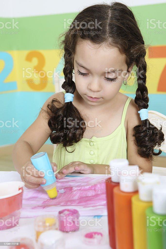 Creative girl royalty-free stock photo