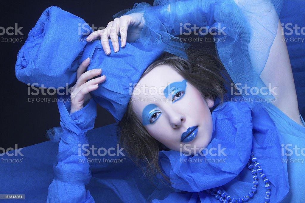 Creative girl. royalty-free stock photo