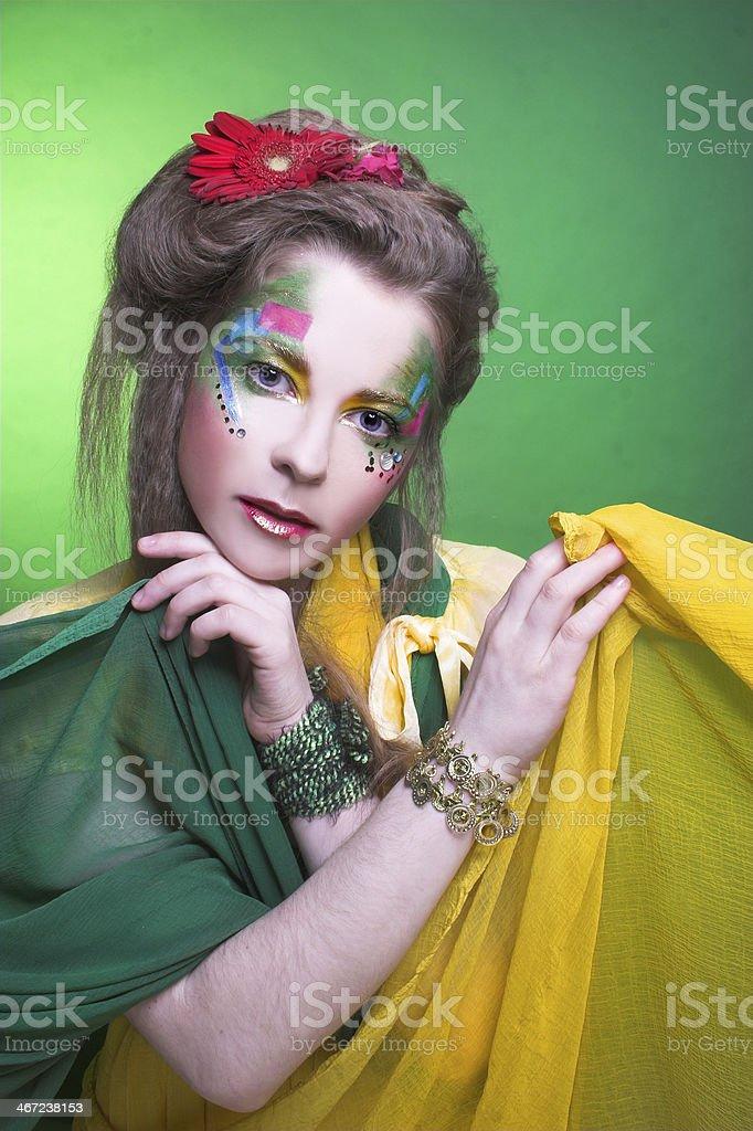 Creative girl. stock photo