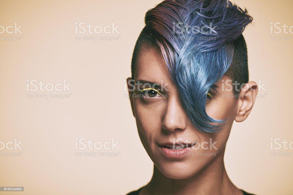 Creative hairstyle stock photo