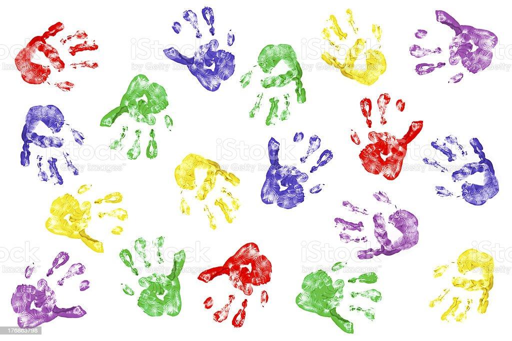 Creative hands stock photo