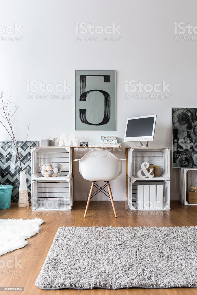 Creative home office idea stock photo
