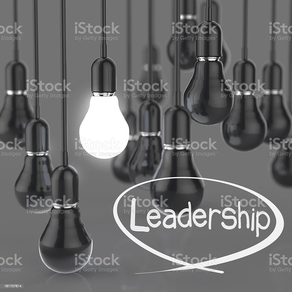 creative idea and leadership concept light bulb royalty-free stock photo