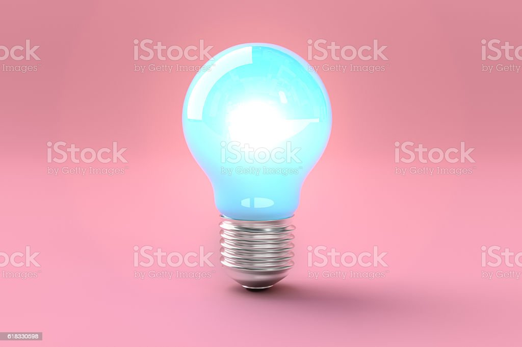 Creative idea in bulb shape as inspiration concept stock photo