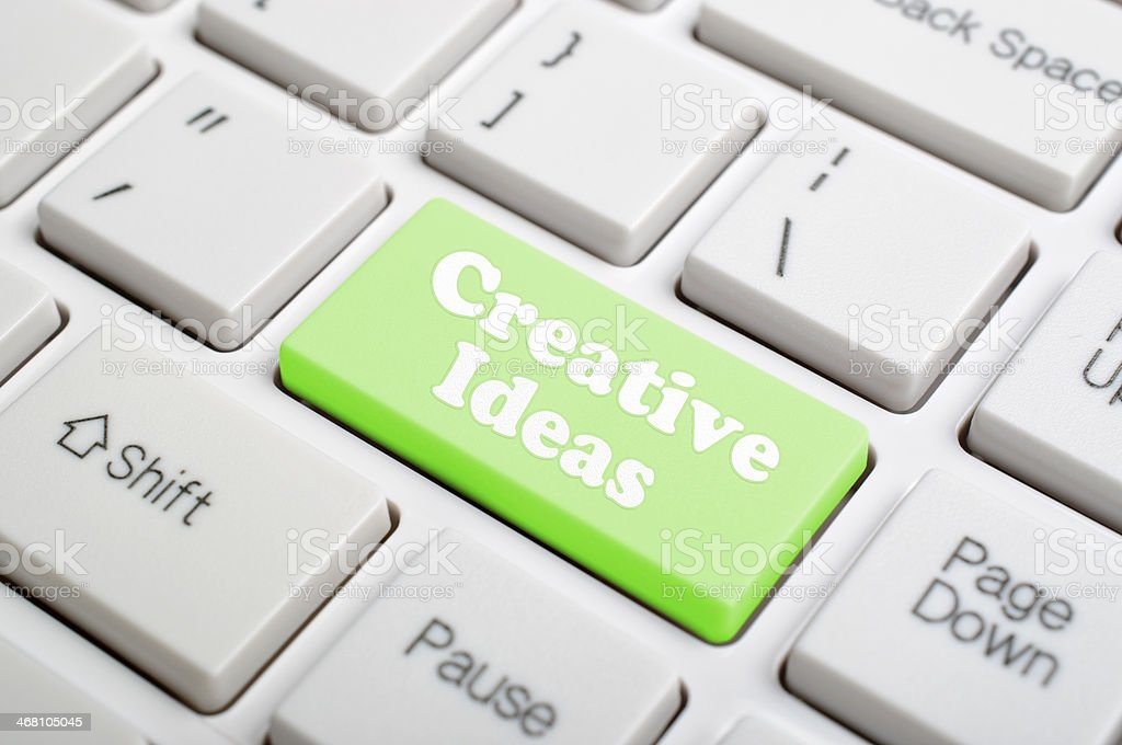 Creative ideas on keyboard royalty-free stock photo