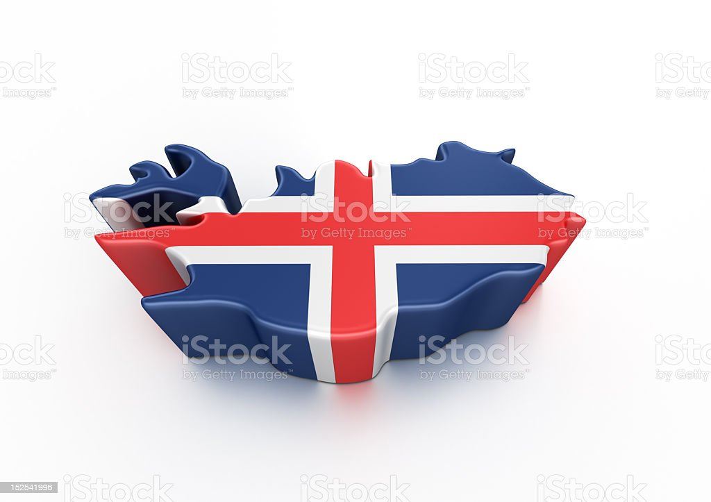 Creative image of the flag of Iceland  stock photo