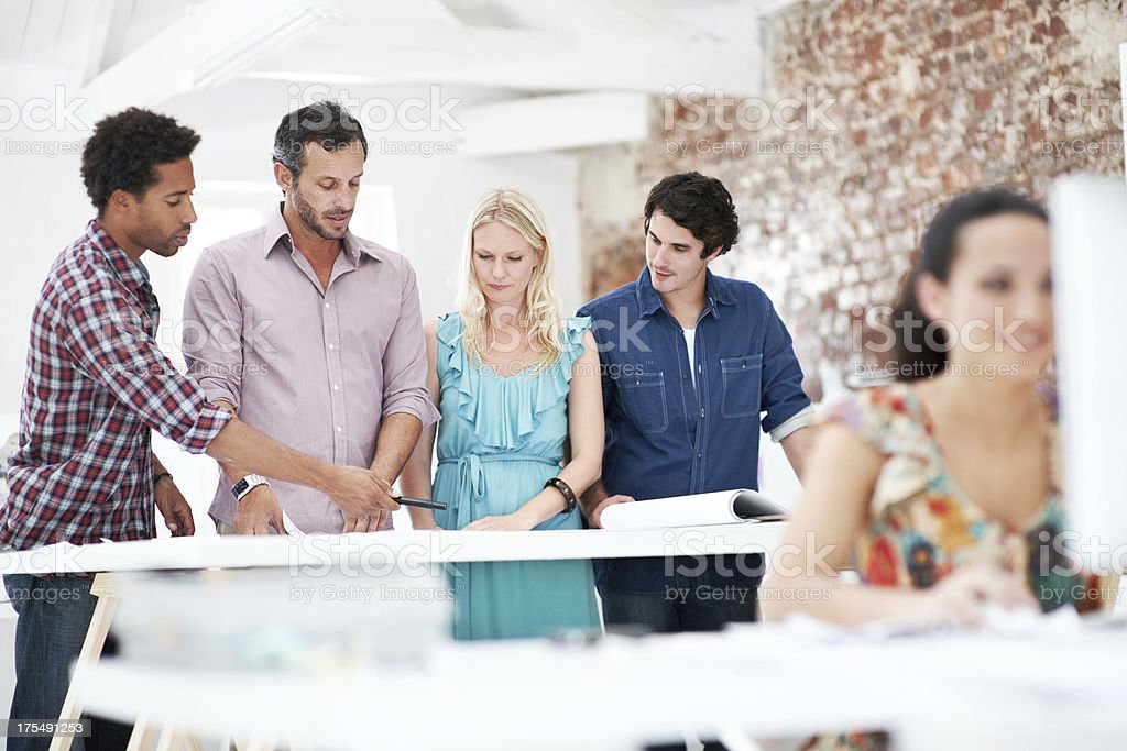Creative input as a group royalty-free stock photo