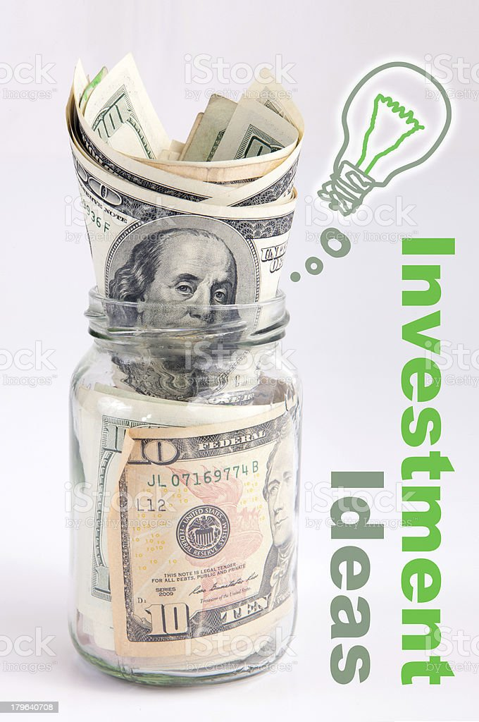 Creative investment idea in the jar royalty-free stock photo