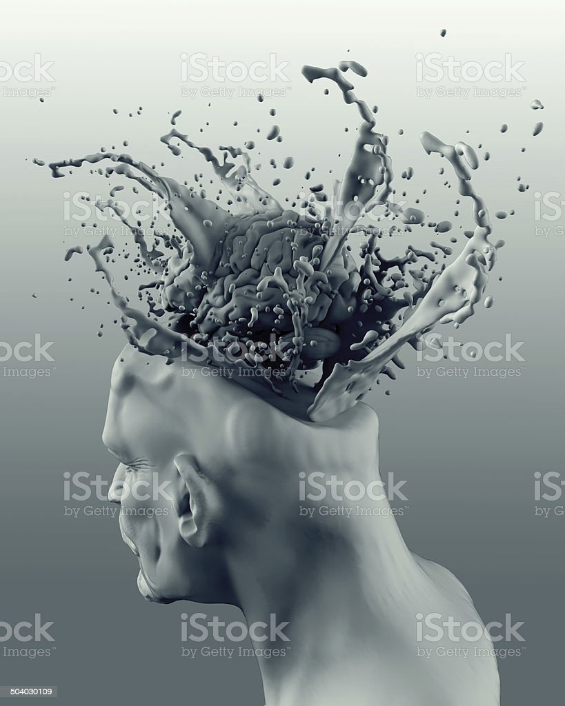 creative juice brain with clipping path stock photo
