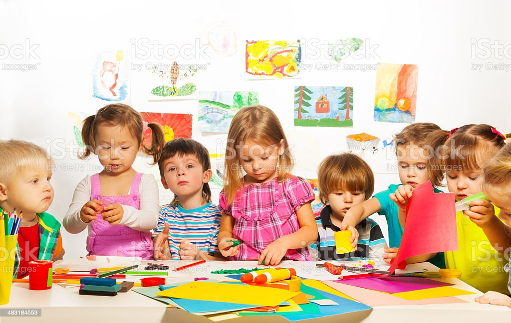 Creative kids class stock photo