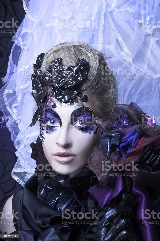 Creative lady stock photo
